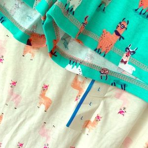 Ladies large llama pajamas!